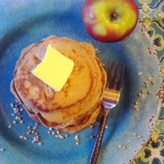 Buckwheat & Yogurt Pancakes with Apples