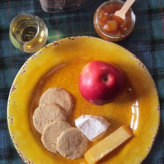 Scottish Style Oat Cakes & An Outlandish Ploughman's Lunch