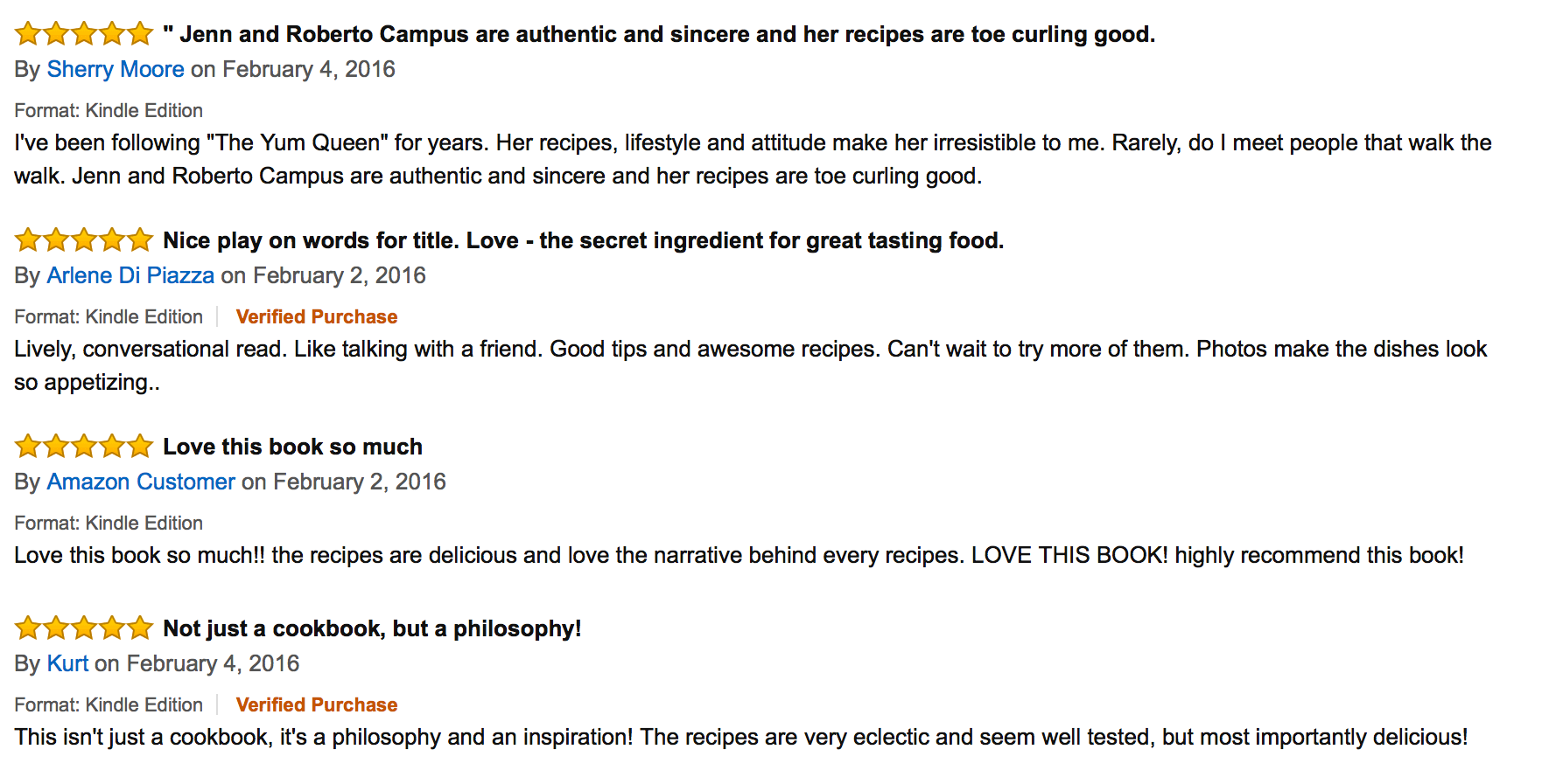 Love in Every Bite - Amazon Reviews