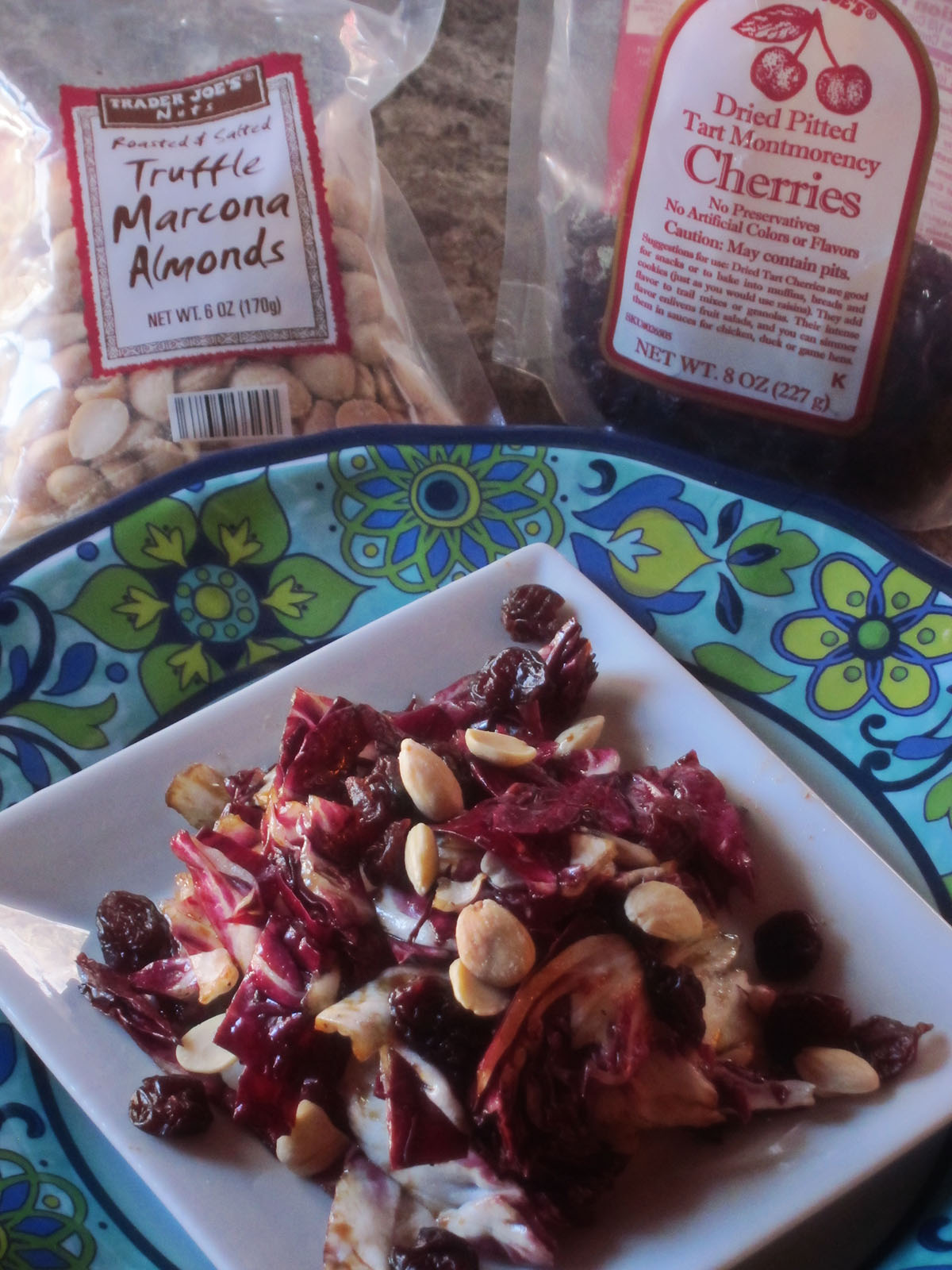 Radicchio Salad with Montmorency Cherries, Marcona Almonds and Violet Balsamic Vinegar