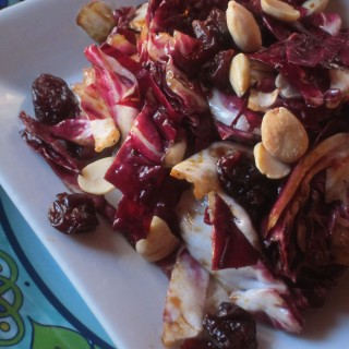 Radicchio Salad with Dried Montmorency Cherries and Marcona Almonds