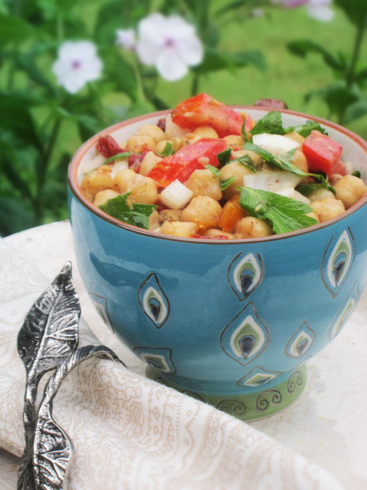 The Best Balela Mediterranean Chickpea Salad