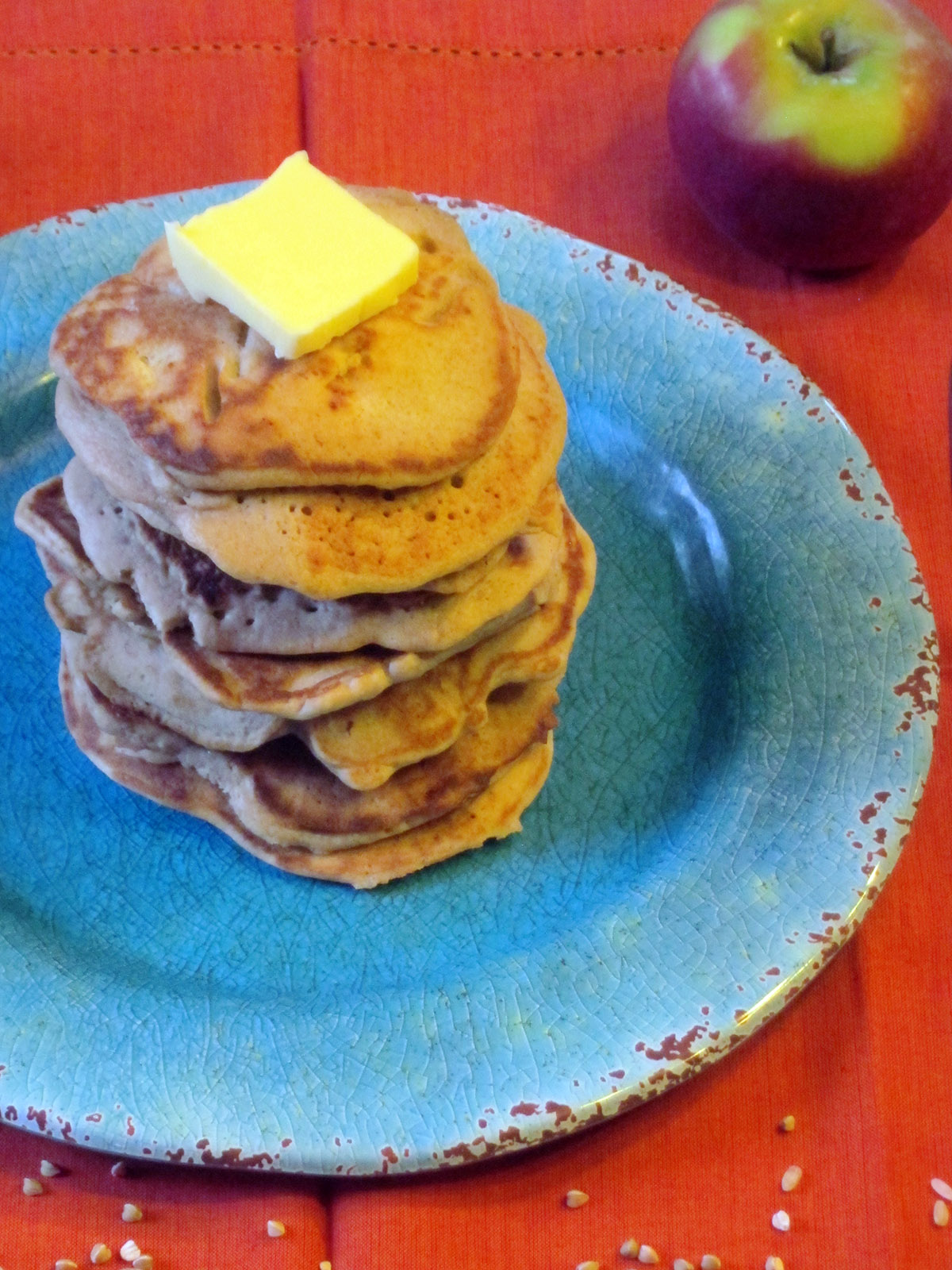 Buckwheat & Yogurt Pancakes with Apples (Gluten Free)