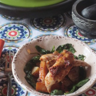 Chicken with Tomato and Pepper Paste Cooked in a Tagine for Rachel
