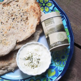 Grilled Millet Flatbreads with Sesame Seed and Kombu Seaweed Sprinkles (Gluten Free, Vegan)
