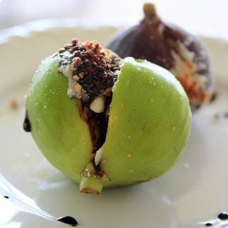 Fresh Figs with Parmigiano-Reggiano and Balsamic Reduction